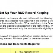 R&D Template Package for SMEs